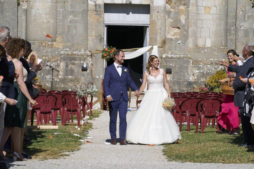 La haie d'honneur pour les mariés